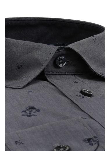 Damat Comfort  Desenli Gömlek İndigo